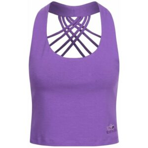Kamah yoga and style Xenia Cropped Top Damen (Violett M ) Fitnessbekleidung
